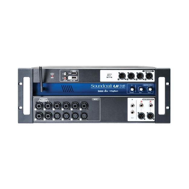 Ui16 - Black - 16-input remote-controlled digital mixer - Front