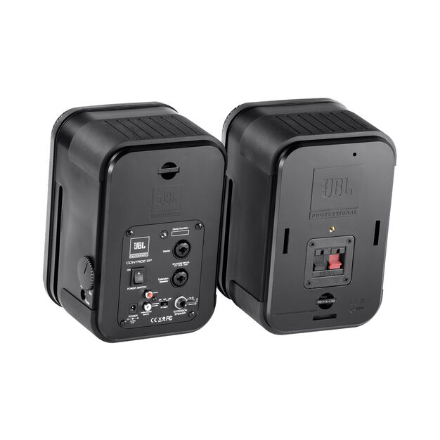 JBL Control 2P (Stereo Pair) - Black - Compact Powered Reference Monitor System - Back