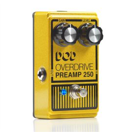 Overdrive Preamp 250 - Yellow - Legendary analog overdrive preamp effect pedal with true-bypass and LED - Hero