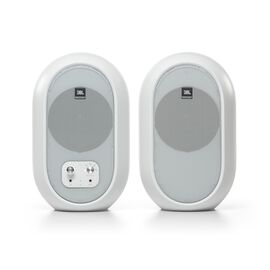 JBL 104-BT (Pair) - White - Compact Desktop Reference Monitors with Bluetooth - Hero