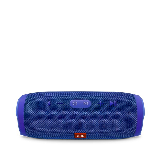 JBL Charge 3 - Blue - Full-featured waterproof portable speaker with high-capacity battery to charge your devices - Detailshot 2