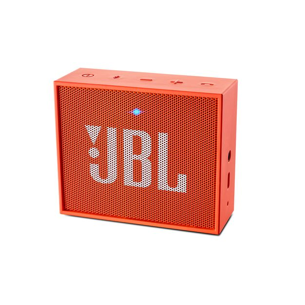 JBL GO - Orange - Full-featured, great-sounding, great-value portable speaker - Hero