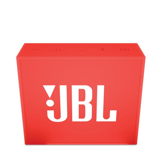 JBL GO - Red - Full-featured, great-sounding, great-value portable speaker - Front