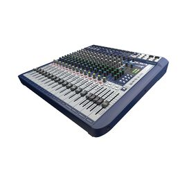 Signature 16 - Dark Blue - 16-input small format analogue mixer with onboard effects - Hero
