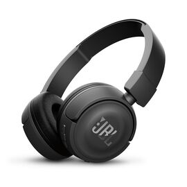 JBL T450BT - Black - Wireless on-ear headphones - Hero
