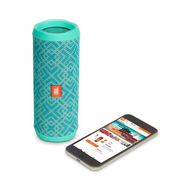 JBL Flip 4 Special Edition - Mosaic - A full-featured waterproof portable Bluetooth speaker with surprisingly powerful sound. - Detailshot 2