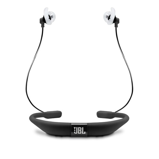 JBL Reflect Fit - Black - Heart Rate Wireless Headphones - Back